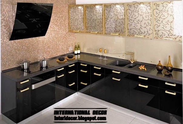 Modern black kitchen designs ideas furniture cabinets 2015 for New kitchen designs 2015