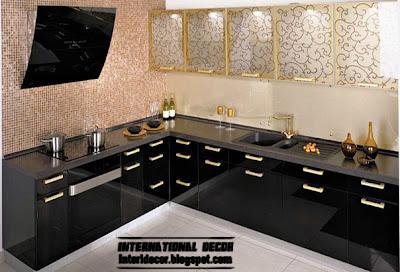 Modern black kitchen designs ideas furniture 2015