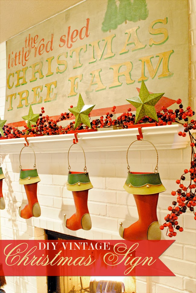 i should be mopping the floor: DIY Vintage Christmas Sign