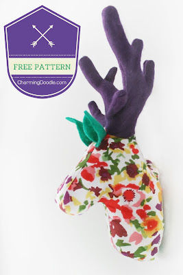 http://www.charmingdoodle.com/2013/11/tutorial-make-fabric-deer-head-or.html