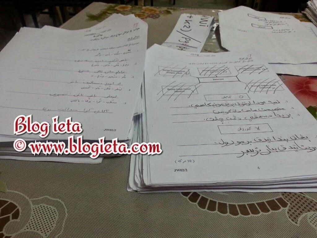 KISAH GURU, MOTIVASI DIRI, Blog ieta, Tanda kertas periksa, Cikgu, Guru, Marking paper