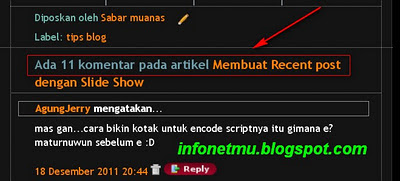 Tips Modifikasi Komentar Blogger