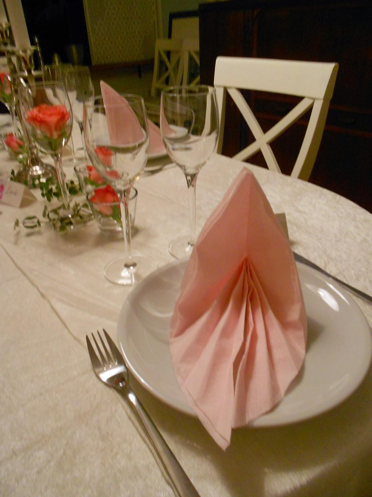 måder at folde servietter på