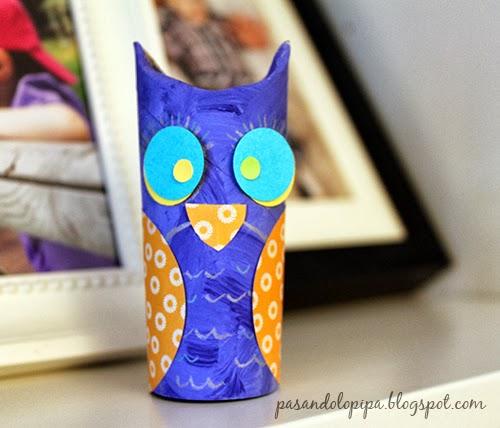 Animales con rollos de papel higiénico en Recicla Inventa