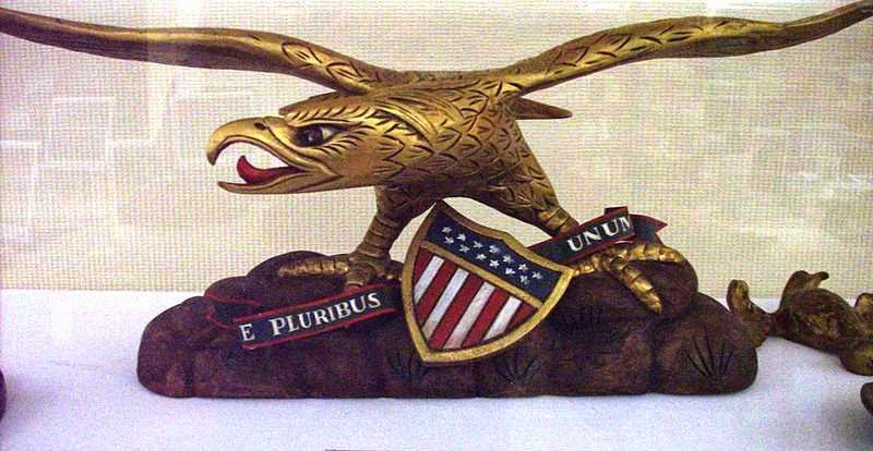 Patriotic Wood Carving Detailed with Decorated finishes