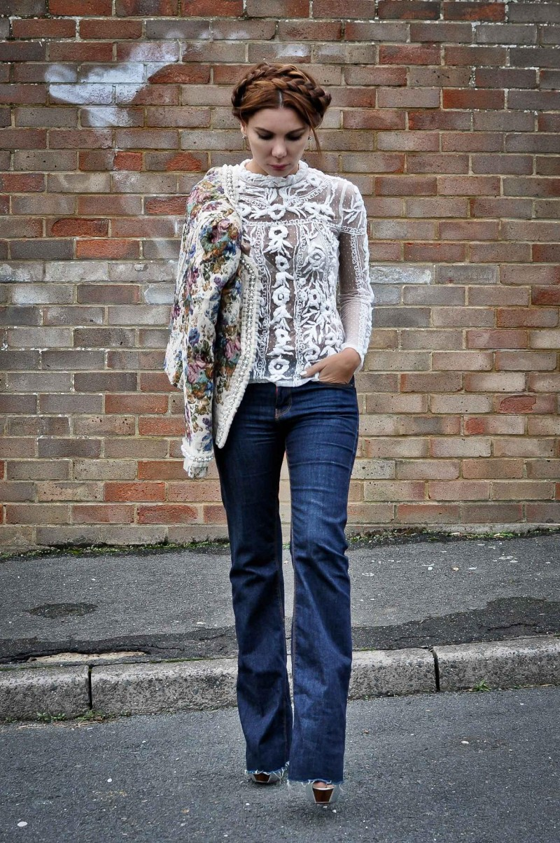 Simona Mar Tapestry Jacket Swiss Dots And Heavy Embroidery