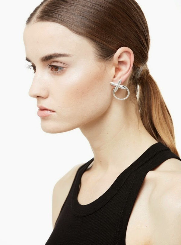simple minimal edgy earrings - crystal cross from luv aj