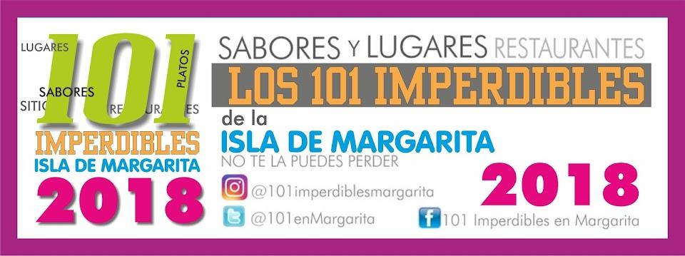 LISTA 101 IMPERDIBLES DE MARGARITA 2018