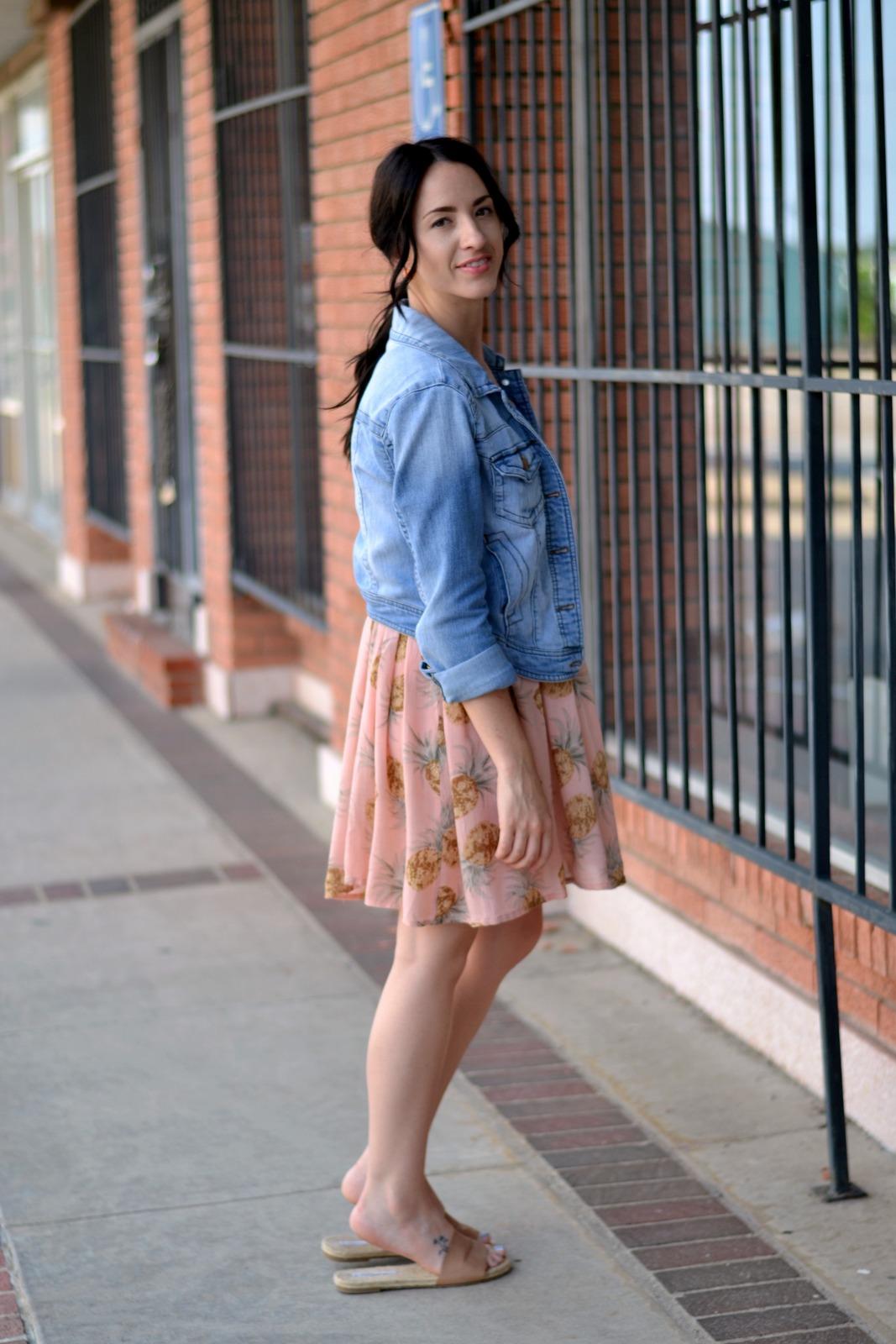 Summer pineapple dress