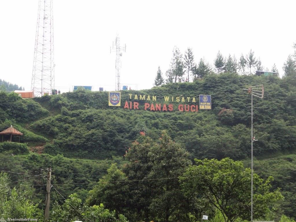 Lokasi Pemandian Air Panas Guci, Tegal
