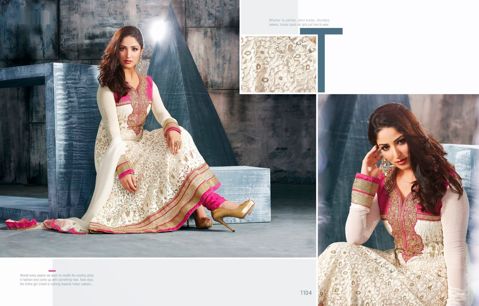 Fashion In Pakistan: Ekta's Salwar Kameez Collection 2013 for Women