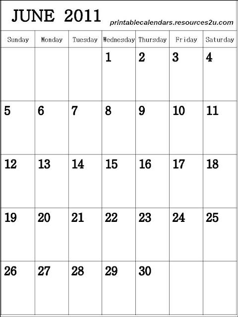 June 2011 Calendar