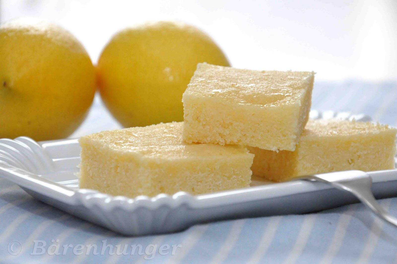 Saftiger Joghurt Zitronen Grieß Kuchen | Bärenhunger