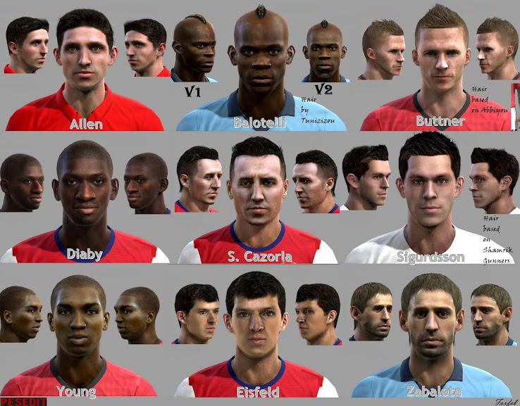 PES 2012 EPL Facepack by Fox