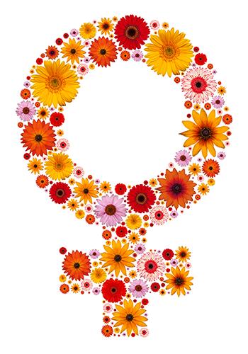 Flowers female sign