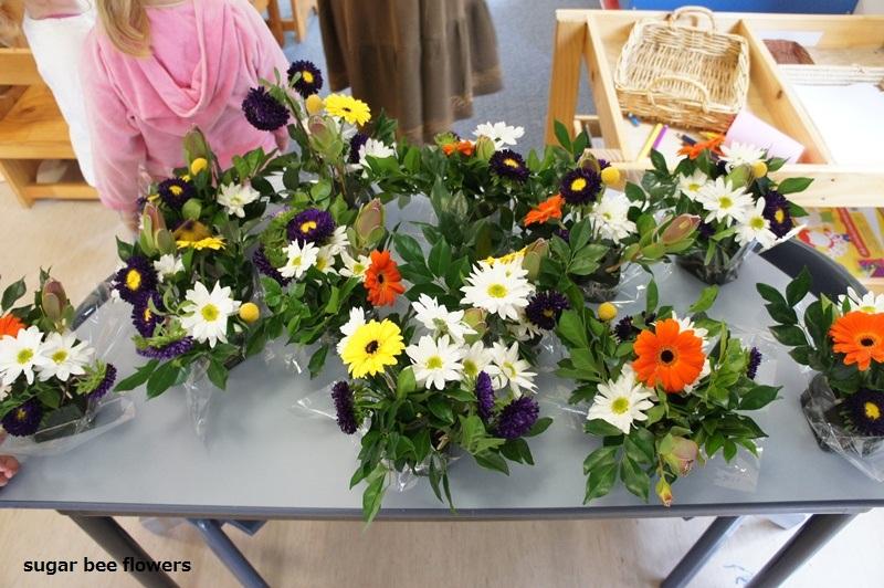 sugar bee flowers: flower arrangement for the kids