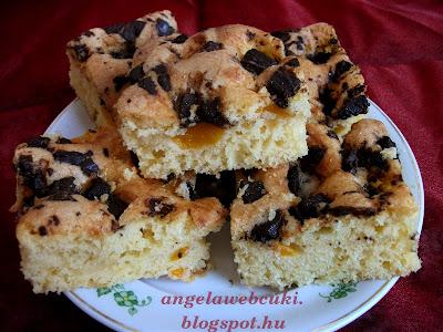 Sárgabarackos csokoládés egyensúly sütemény, egy, a pocaknak is könnyű, kevert tésztás desszert.