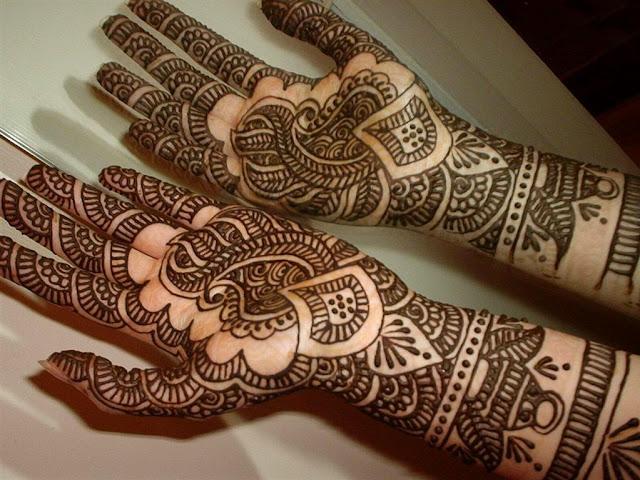Women Hairstyle Arabic Hand Mehndi Design