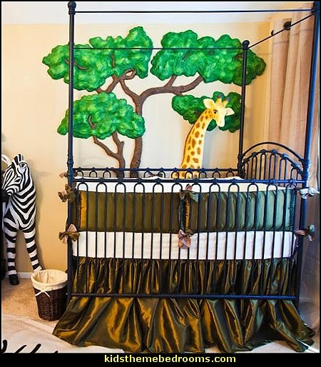 Jungle Baby Bedrooms   Jungle Theme Nursery Decorating Ideas   Jungle Wall  Murals   Toddler Jungle