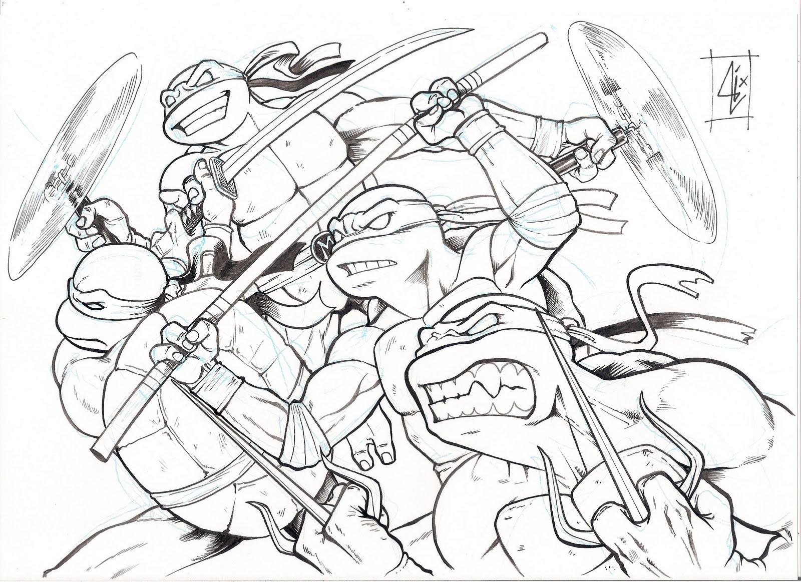 Desenhos do Tartarugas Ninja para colorir - imagens para colorir tartaruga