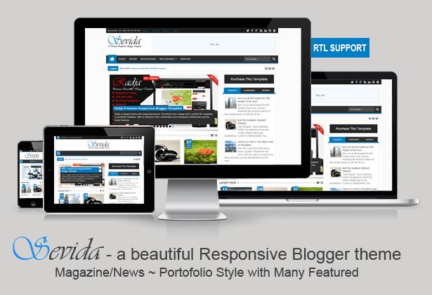 Sevida v1.7 Premium Responsive Magazine Blogger/Blogspot Template