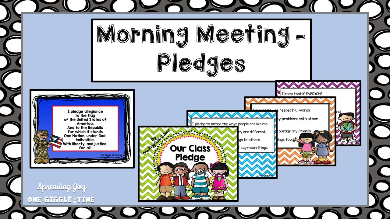 Classroom Greeting Ideas ~ How morning meeting looks in our classroom spreading