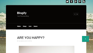 Blogify Blogger Template