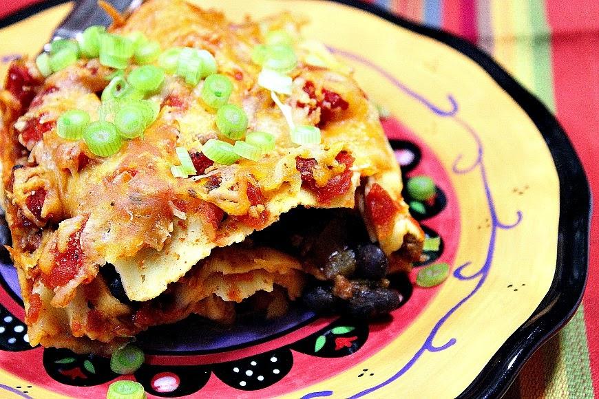 Healthy Turkey Taco Lasagna - www.kudoskitchenbyrenee.com