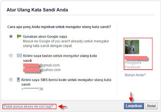 Cara Buka akun facebook karena lupa password email ID atau dibajak