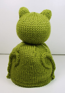 hand knit toy reversible frog turtle
