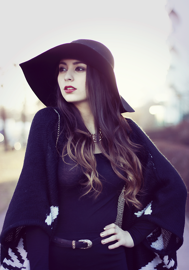 chic hat outfit