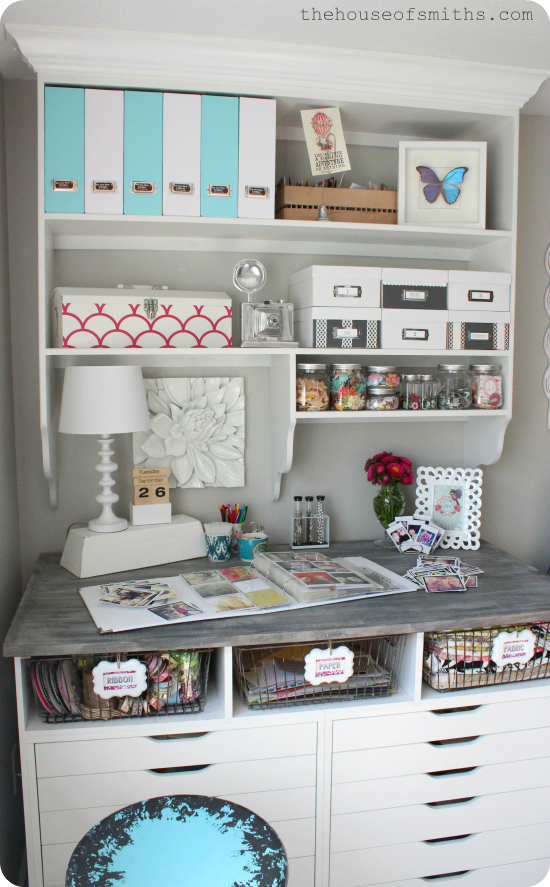 diy custom office shelving