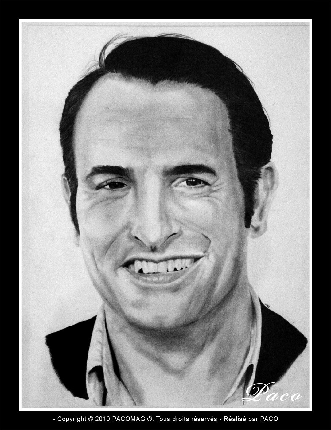 Paco artiste peintre illustrateur graphiste portrait de for Contacter jean dujardin
