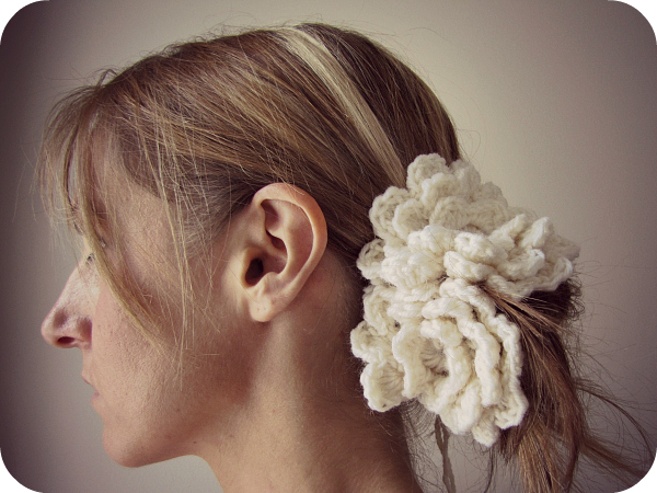 Crochet Flower Hairpiece PaisleyJade