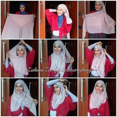 Tutorial Hijab Paris Sehari Hari