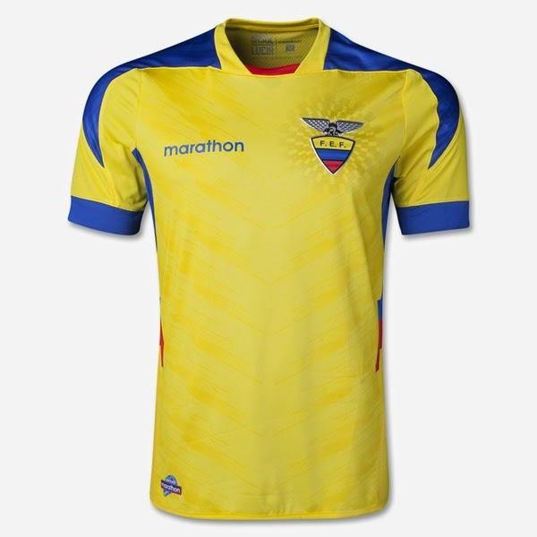 Jersey Piala Dunia 2014 Negara Ecuador