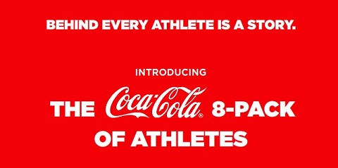 Coca-Cola 8-pack of athletes