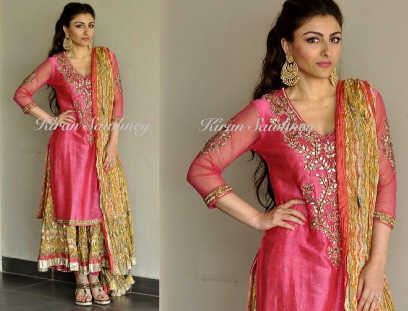 Soha ali khan's mehndi outfit