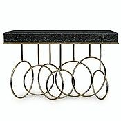 A Brass And Cobra Console Table By Taylor Llorente Has A Unique Style . The  Console Is Hand Forged And Available In Hammered Or Polished Brass  Sculptured ...