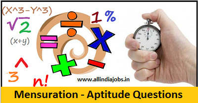 Mensuration Aptitude Questions and Answers