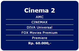 Paket tambahan Indovision terbaru Cinema 2Rp 60.000/bln