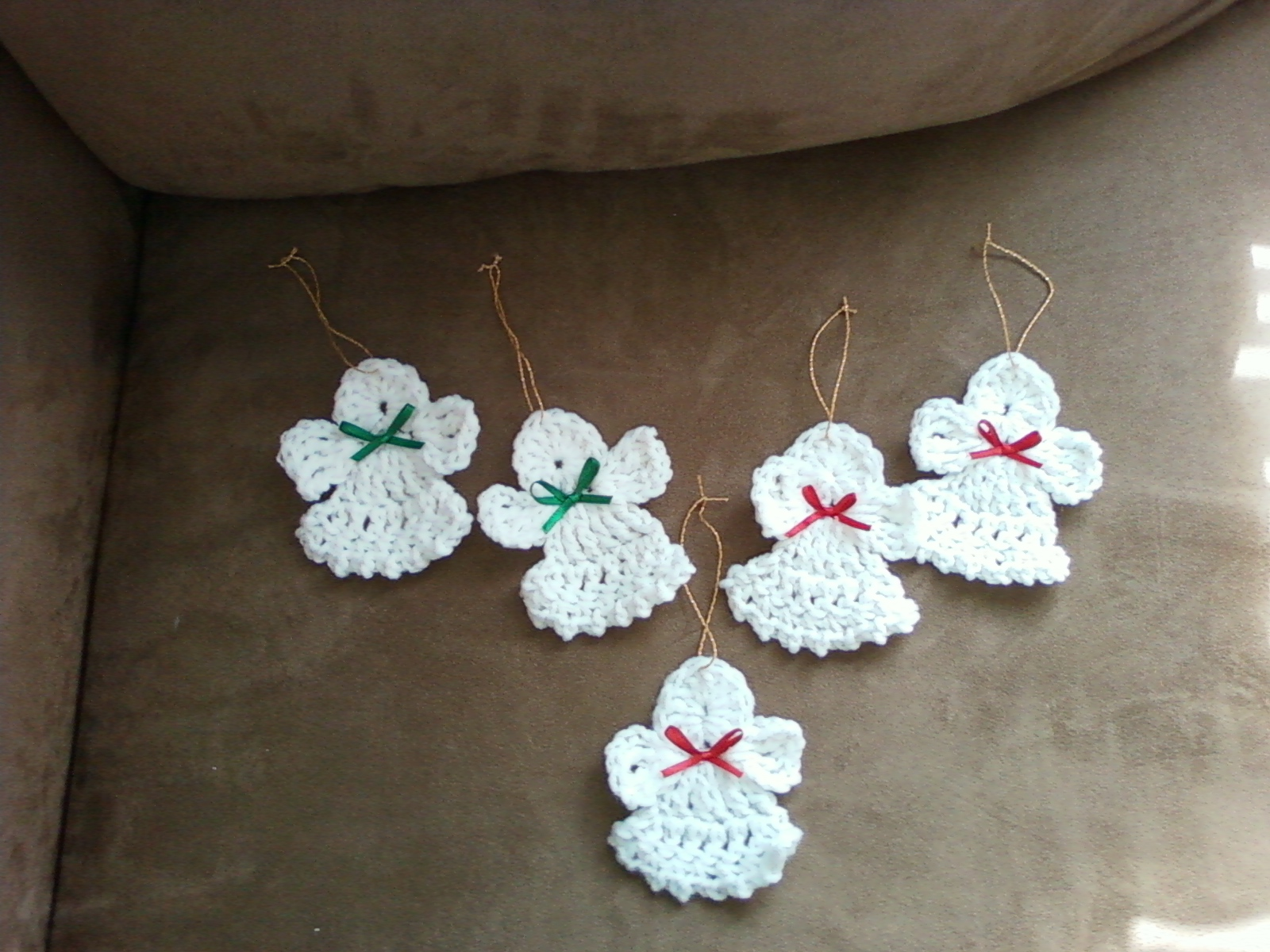 Here are some angel ornaments i made they are pretty fun to make i