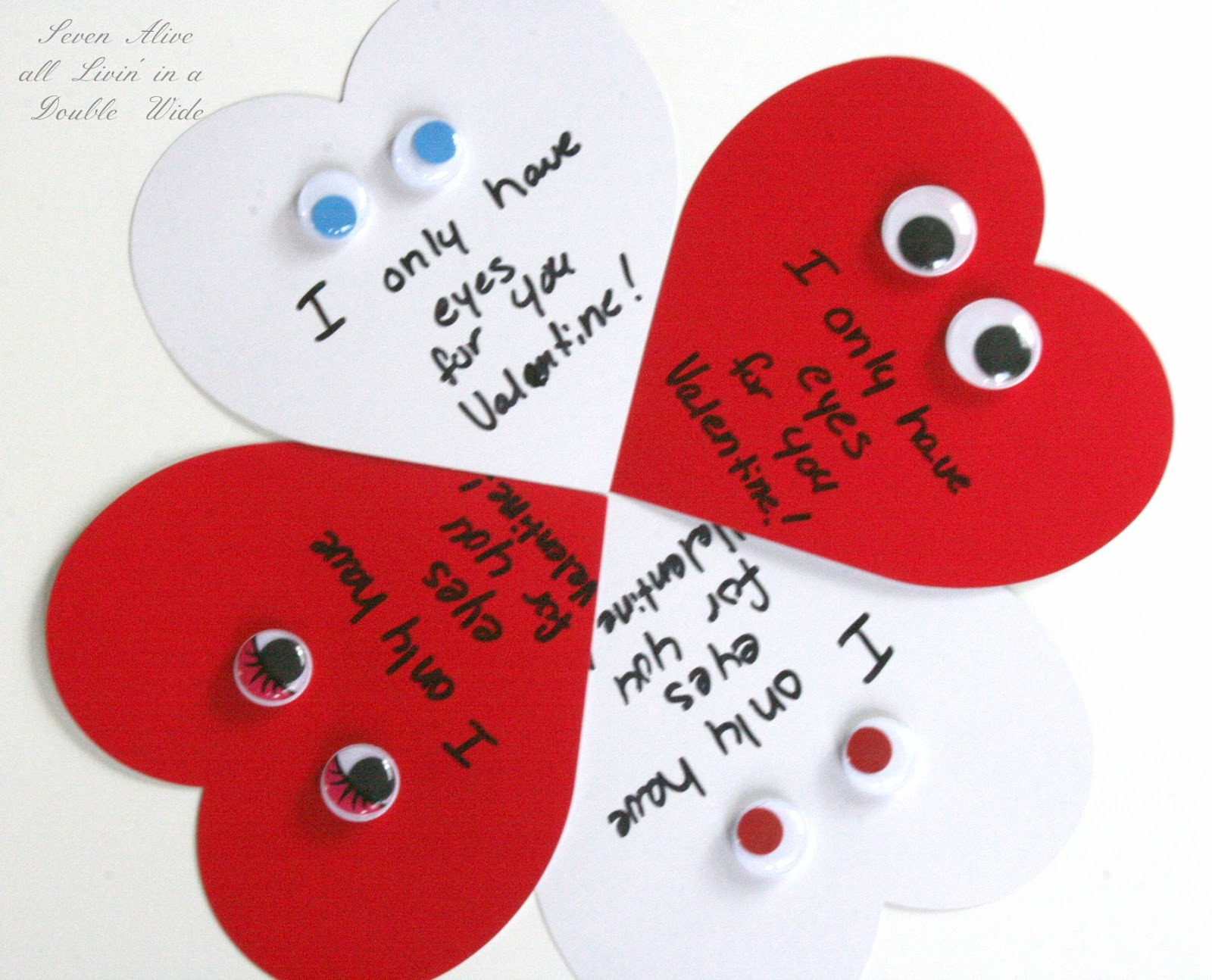 3 Easy SemiHomemade Valentines Day Cards Seven Alive – Hand Made Valentine Cards