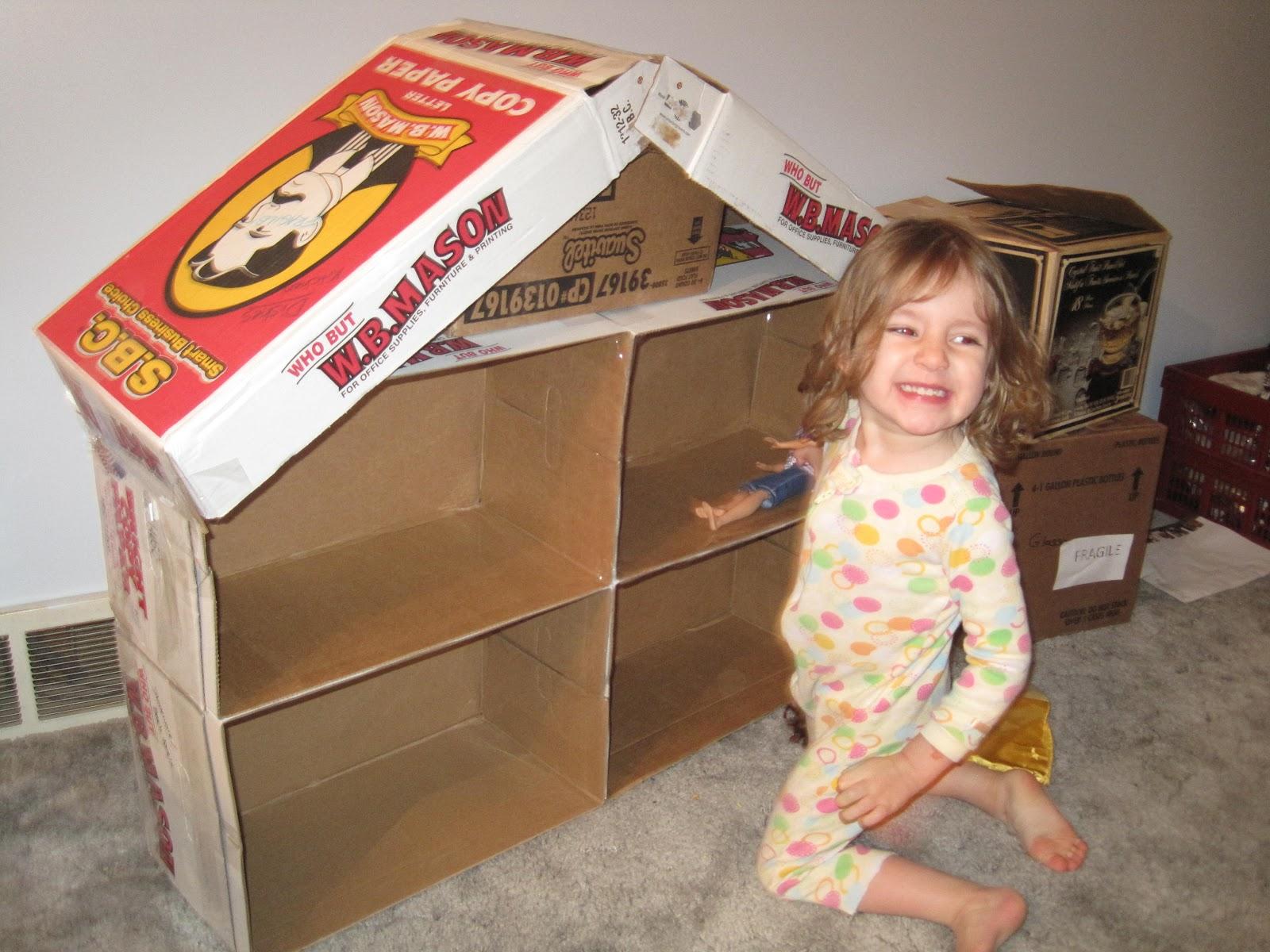 the beans cardboard barbie house. Black Bedroom Furniture Sets. Home Design Ideas