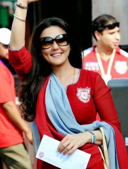 Preity Zinta Bollywood Celebrity Clothing in IPL 2014