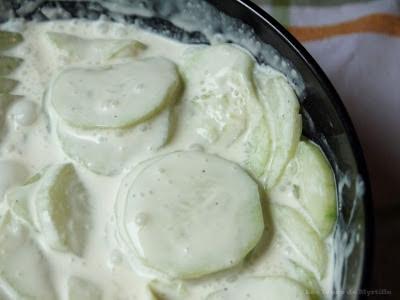 Concombre à la crème (voir la recette)