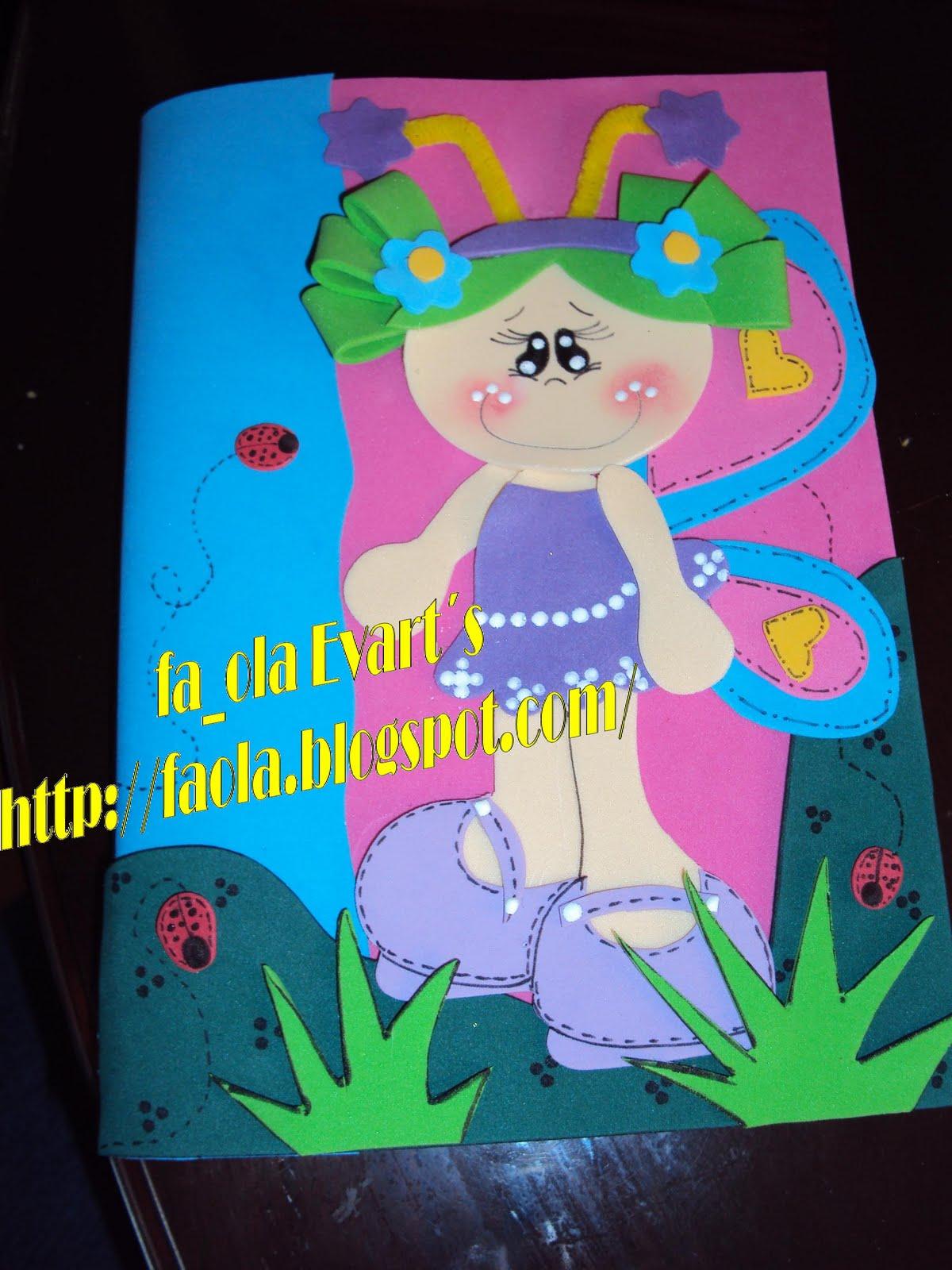 fa_ola evart`s: + Cuadernos decorados con fofuchas planas