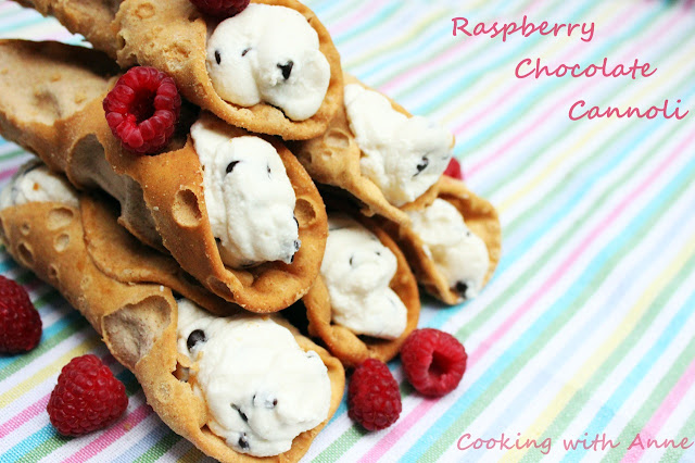 Raspberry Chocolate Cannoli