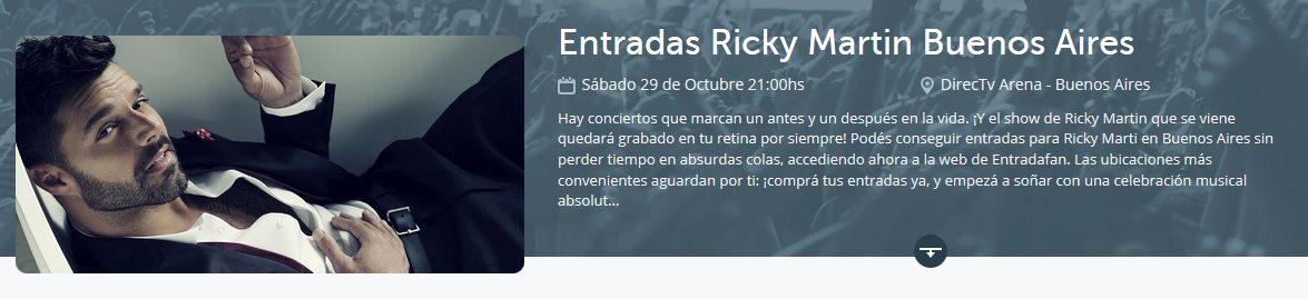 Ricky Martin Buenos Aires