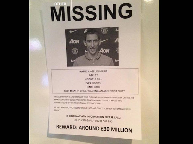 Angel Di Maria Declared Missing By Manchester United